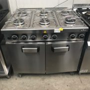 MBM 6 BURNER GAS COOKER WITH OVEN