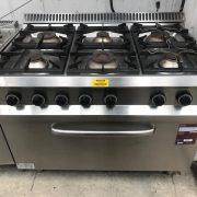 Hobart 6 burner Gas cooker