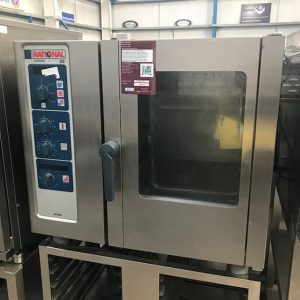 Rational 6 grid Electric Combination oven  with stand