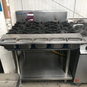 Blue seal 6 ring Gas Cooktop with spice rack no oven