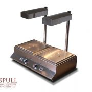 Aspull Catering Heated Carvery unit with lights