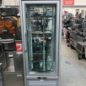 Tefrigo Rotating Shelf Silver Display Cabinet