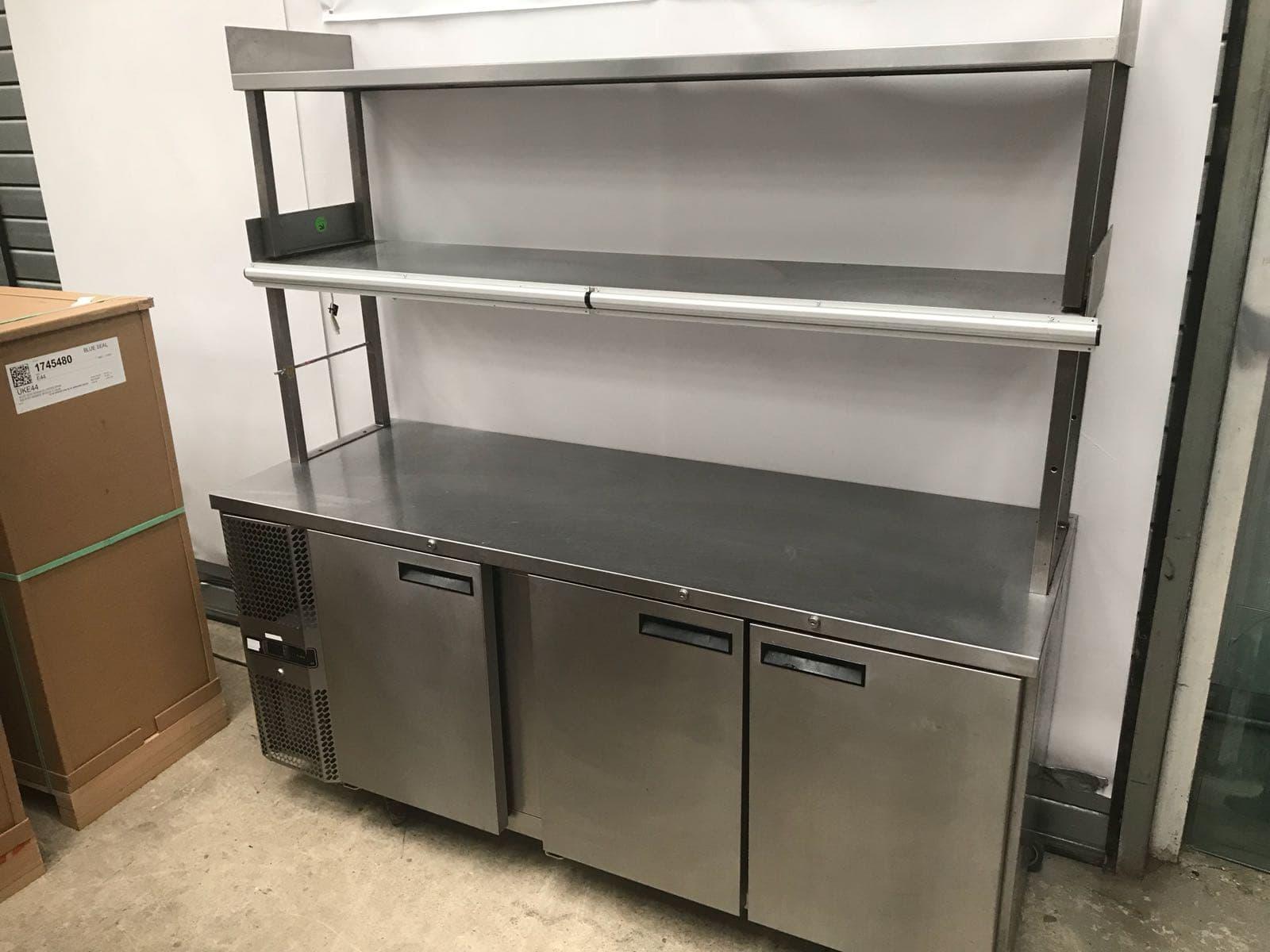 Precision Three door counter fridge  with double gantry
