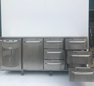 Foster 3 door Refrigerator Counter with drawers