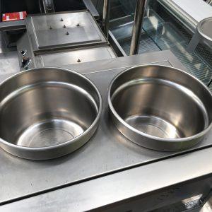 2 pot electric wet counterline bain maries drop in