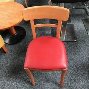 Café Red wooden chair
