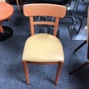 Café Yellow wooden chair