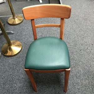 Café Dark Green  wooden chair