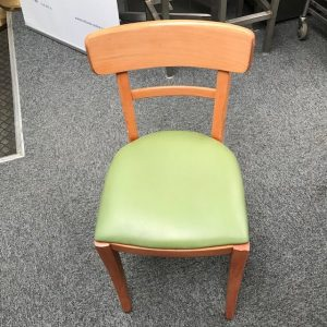 Café Lime  Green  wooden chair