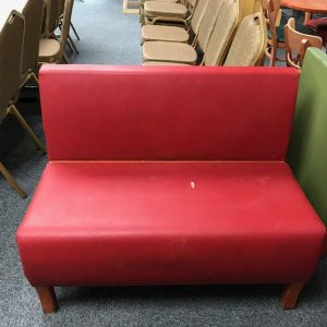 Red long sofa chairs