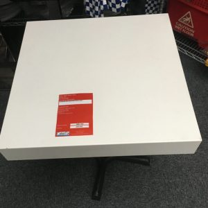 White sqaure  tables