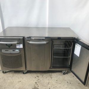 Foster 2 Door Counter chiller with cheff knife draw - biscuit lid