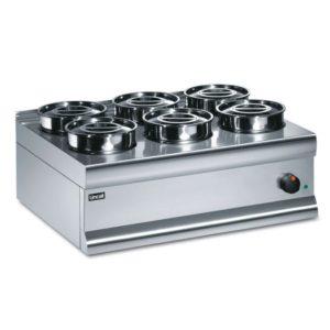Lincat Bain Marie Dry Heat SliverLink 6 Pots