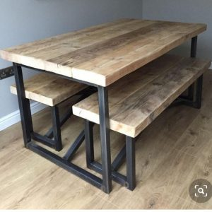 GA Real Oak furniture- Dining Table Bench Set