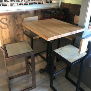 GA Real Oak furniture- High Bar Table Stool with Back