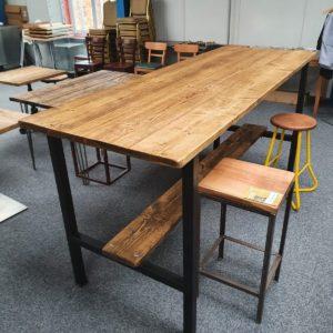 GA Real Oak furniture High Bar table Rustic Style