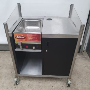 Buffalo Mobile hotdog counter with hot bain marie