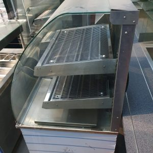 Drop in heated display cabinet