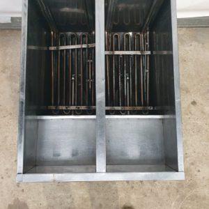 Twin Tank Twin Basket Free Standing Electric Fryer