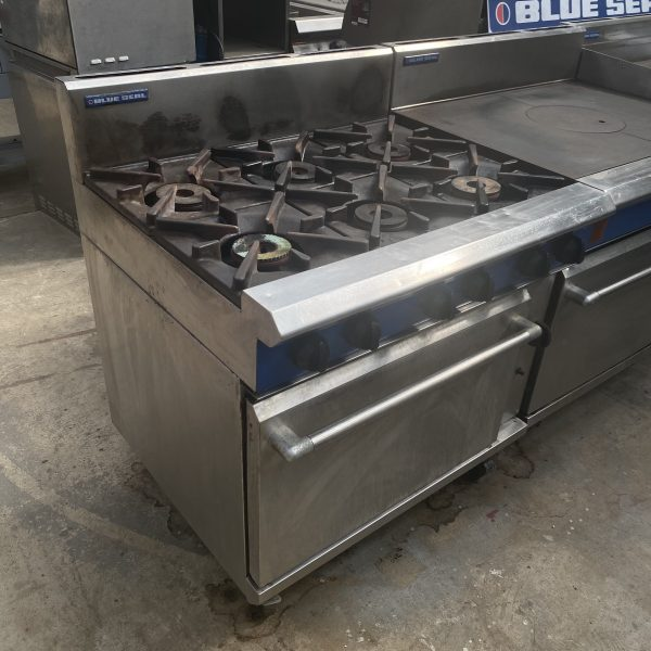6 Gas Burners with oven