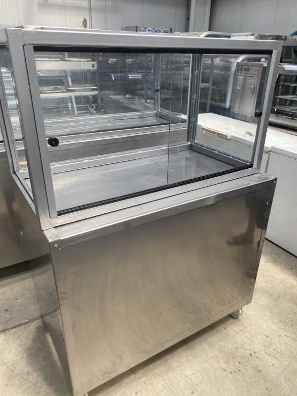 Stainless Steel Counter with Glass Top