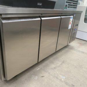 3 door counter refrigerator