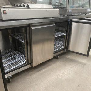 4 door counter refrigerator